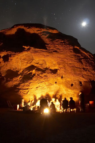 Valley of fire fast approaches!  The campfire at the beehives, photgraphed by Benson!