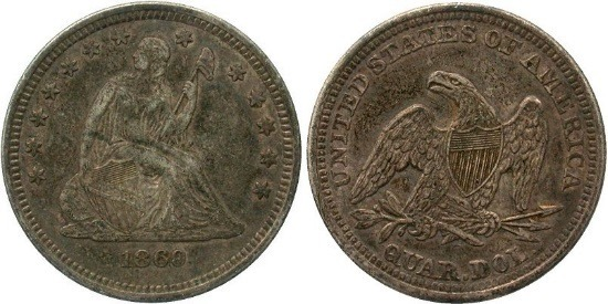 GFRC Open Set Registry - Golden Arm 1860 Seated  25C