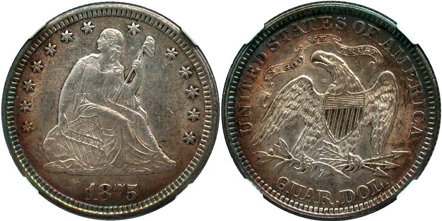 GFRC Open Set Registry - Golden Arm 1875 Seated  25C