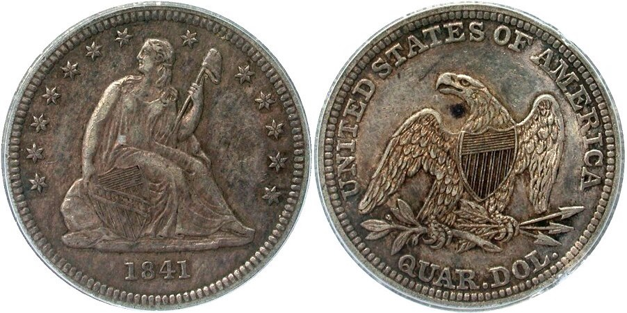 GFRC Open Set Registry - Golden Arm 1841 Seated  25C