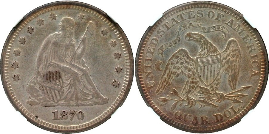 GFRC Open Set Registry - Golden Arm 1870 Seated  25C