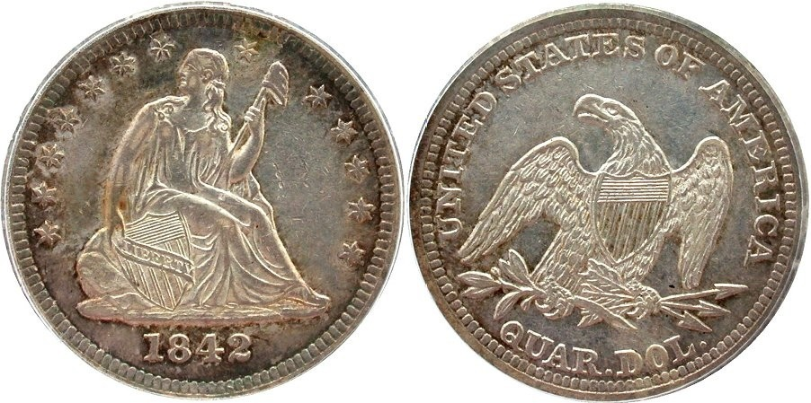 GFRC Open Set Registry - Golden Arm 1842 Seated  25C