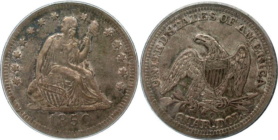 GFRC Open Set Registry - Golden Arm 1850 Seated  25C